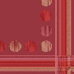 Luxusný obrúsok 40cm Dunilin Striped Dots (1ks)